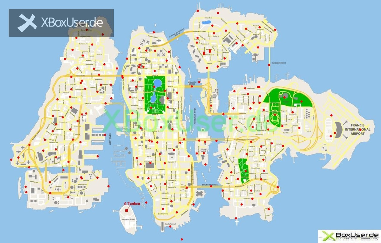 gta 4 karte Grand Theft Auto 4   Karten für den Erfolg: Gefährdete Spezies