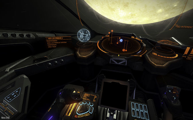 Das Cockpit in Elite Dangerous