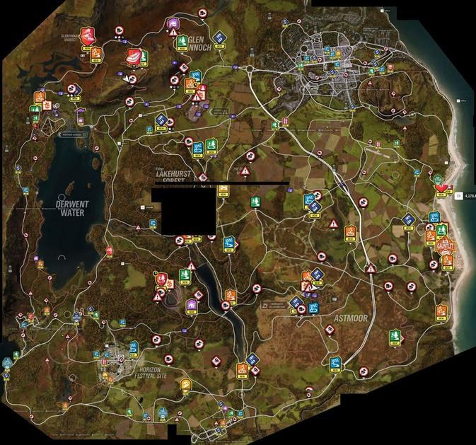 Das Ist Die Komplette Weltkarte Zu Forza Horizon 4 Alle
